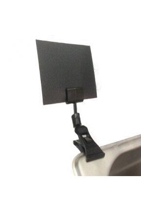 Ценникодержатель на прищепке со штангой 10 см (Ч) с меловой табличкой А7