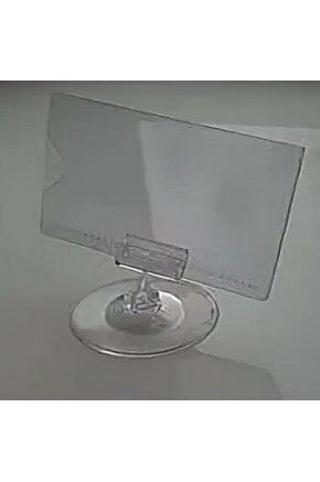 Ценникодержатель на круглом основании с защитным карманом