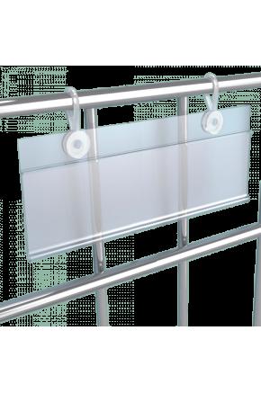 Ценникодержатель на клипсах для сетчатых конструкций