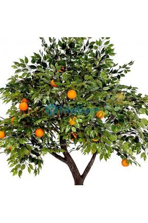 Искусственное дерево с апельсинами муляж