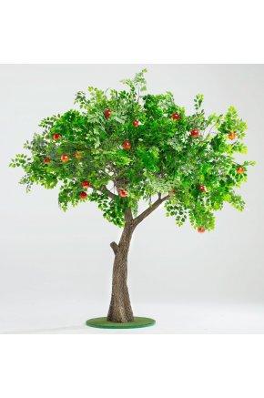 Искусственное дерево с гранатами муляж