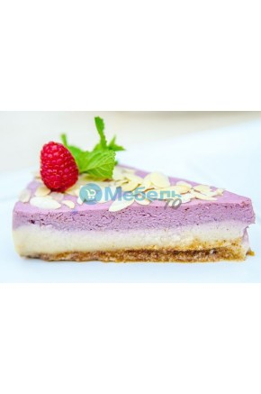 Искусственный десерт чизкейк малиновый муляж