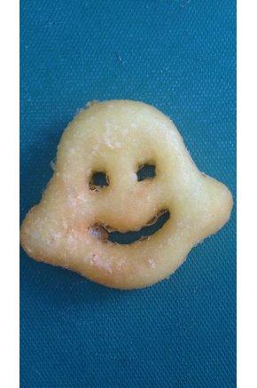 Искусственный картофель жареный в виде смайлика муляж