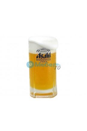 Муляж кружки пива «Asahi» с пышной пеной (435 мл)