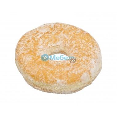 Искусственный пончик с пудрой муляж