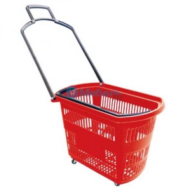 Корзина-тележка на 4-х колесах пластиковая на 45 литров