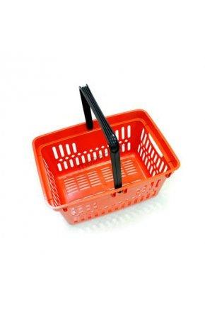Корзина покупательская пластиковая с одной ручкой 27 л