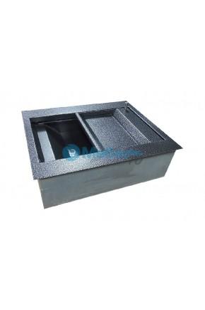 Лоток банковский с полимерно-порошковым покрытием с бронекоробом