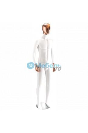 Манекен мужской матовый с золотой головой и кистями 49W