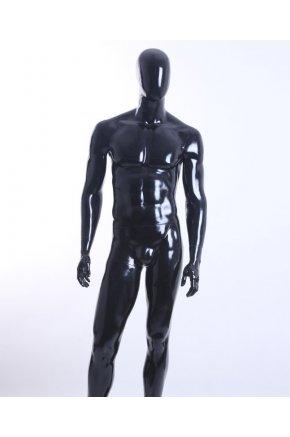 Манекен мужской черный глянец MGM-2