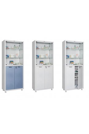 Шкаф для медикаментов со стеклянным верхом
