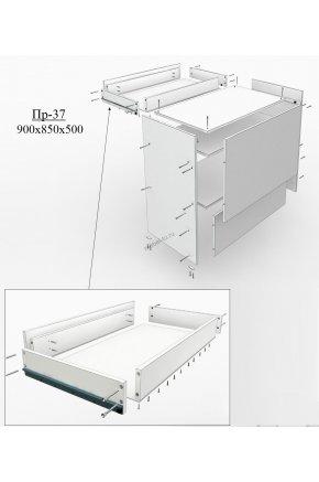 Кассовый прилавок для магазина ПР-37 с большим ящиком