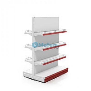 Торговый стеллаж Стандарт + 60 см двусторонний