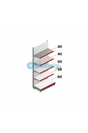Торговый стеллаж Стандарт + 60 см приставной