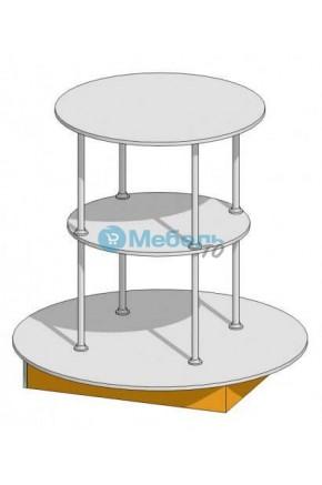 Платформа для открытой выкладки товара в аптеку 1200х1150 мм