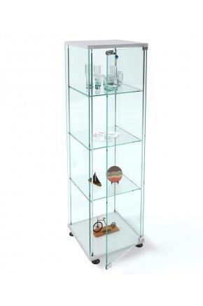 Шкаф витрина стеклянная - стаканчик