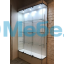 Витрина стеклянная с подсветкой и перфорированными стойками В-803