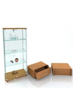 Витрина стеклянная для магазина ВК-700