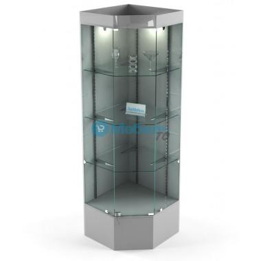Витрина угловая стеклянная В-704