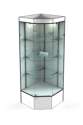 Витрина угловая стеклянная В-804